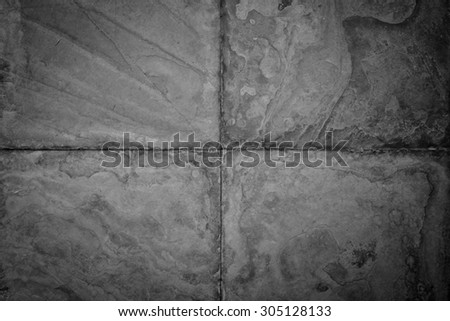 concrete pavement flooring top view background - stock photo