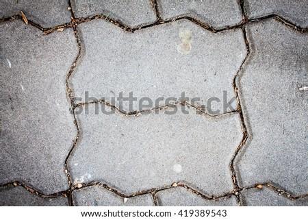 concrete pavement flooring top view background - stock photo