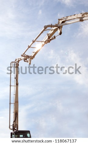 concrete pump - stock photo