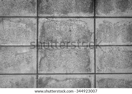 concrete sqaures wall background - stock photo