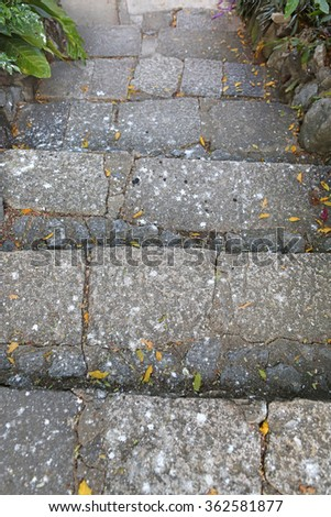 concrete stair in public park - stock photo