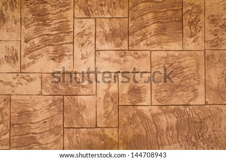 Concrete stamp Pattern for outdoor floor finishing - stock photo