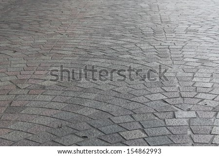 Concrete stamp Pattern for outdoor floor finishing. - stock photo
