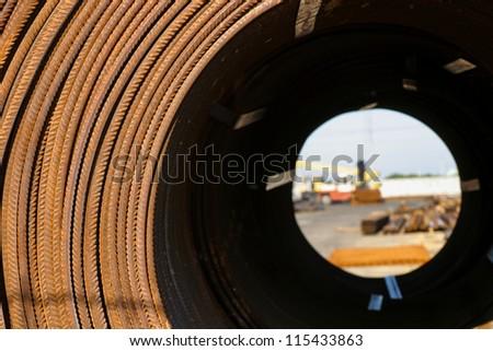 concrete steel - stock photo