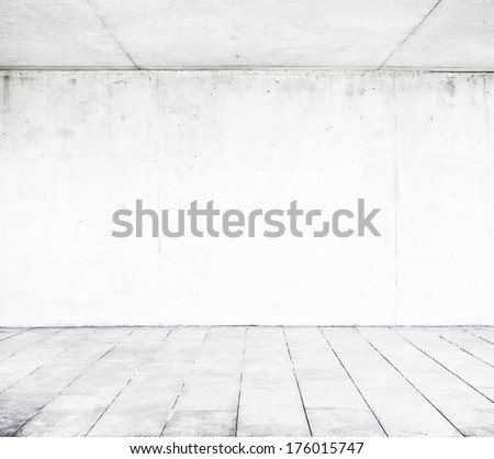 Concrete wall and floor - stock photo