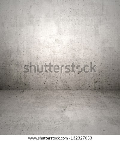 Concrete wall and floor backdrop - stock photo
