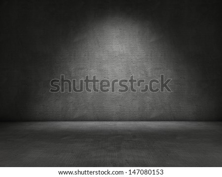 Concrete wall and floor background - stock photo