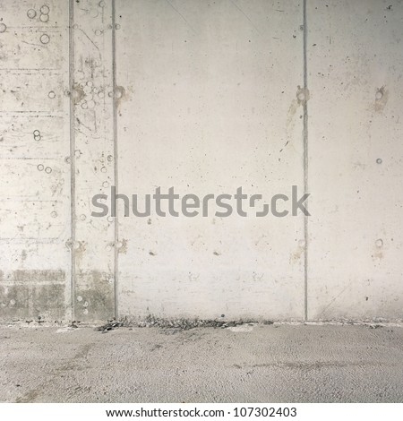 Concrete wall background, texture - stock photo