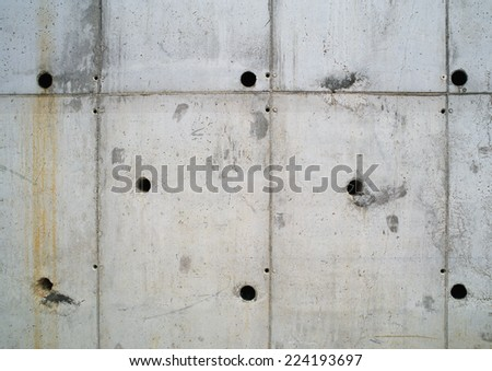 Concrete wall, close-up - stock photo