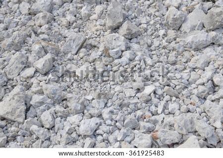 concrete waste of building demolition - stock photo