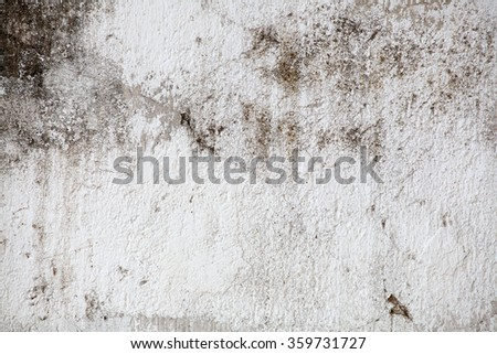 Concrete, weathered, worn, painted white. Landscape style./  Great background or texture. - stock photo