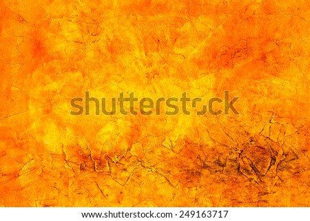 Concrete, weathered, worn, painted yellow, orange. Grungy Creative Concrete Surface. Great background or texture. - stock photo
