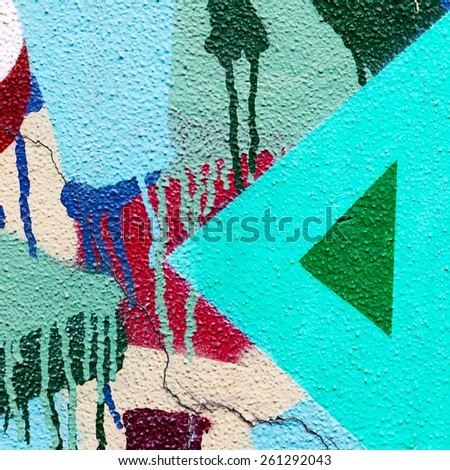 Concrete, weathered, worn wall damaged paint. Grungy Concrete Surface. Great background or texture. - stock photo