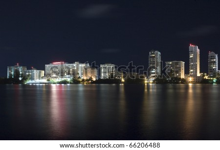 Condado in Santurce, a district of San Juan of Puerto Rico. - stock photo
