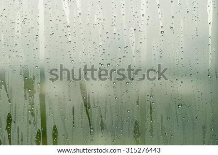 Condensation mirror - stock photo