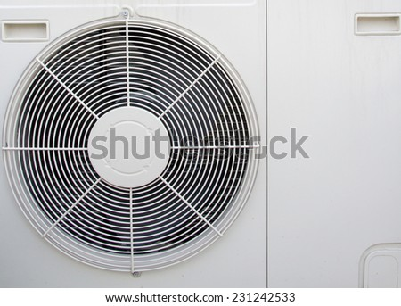 Condenser fan air through the use of old rust. - stock photo