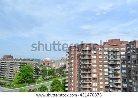 Condo buildings in Montreal - stock photo