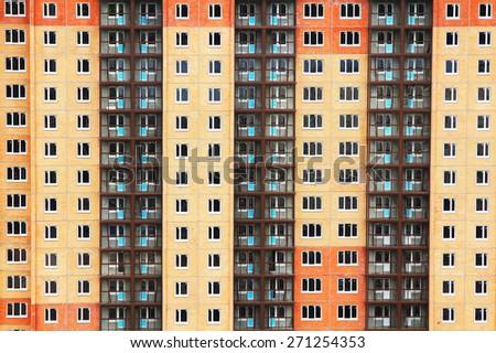 Condo construction . Apartment Building - stock photo