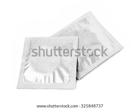 Condoms isolated on a white background  - stock photo