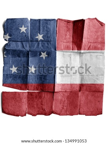 Confederate army's first national flag - stock photo