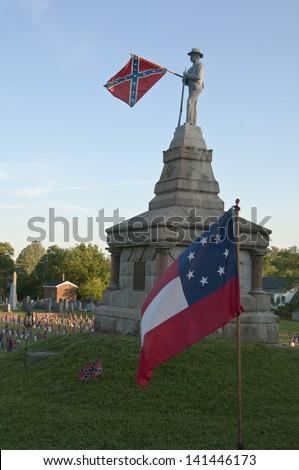Confederate Memorial Day Remembrance - stock photo