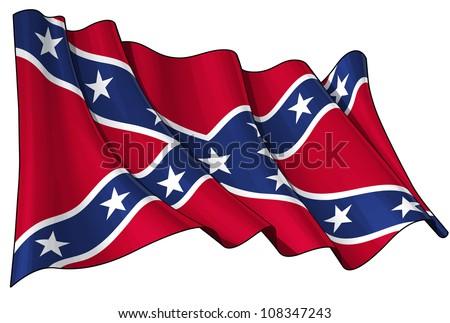 Confederate Rebel flag - stock photo