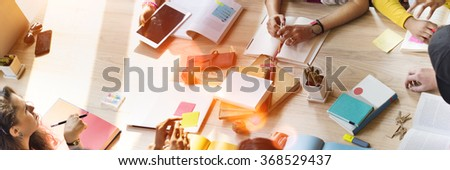 Conference Discussion Start Up Sharing Education Concept - stock photo