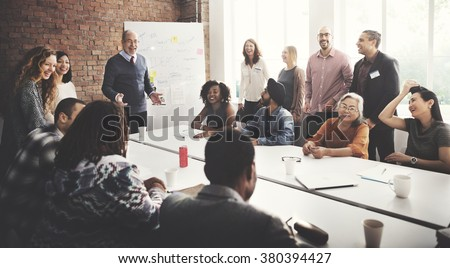 Conference Discussion Talking Sharing Ideas Concept - stock photo