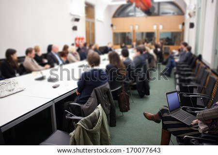 conference lecture - stock photo
