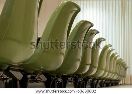 Conference room chairs - stock photo