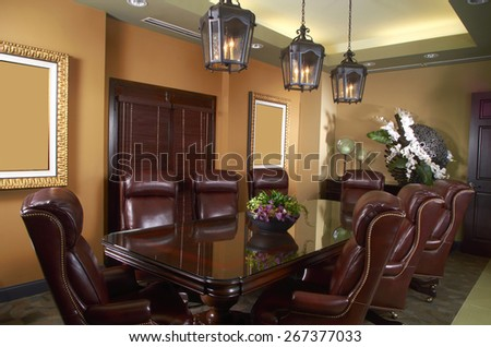 Conference Room Table interior Design - stock photo