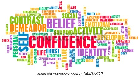 Confidence in Personal Belief and Self Developing - stock photo