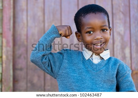 Confidence that can only grow out of a strong heart - stock photo