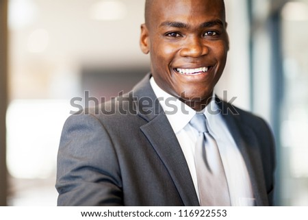 confident african american businessman closeup - stock photo