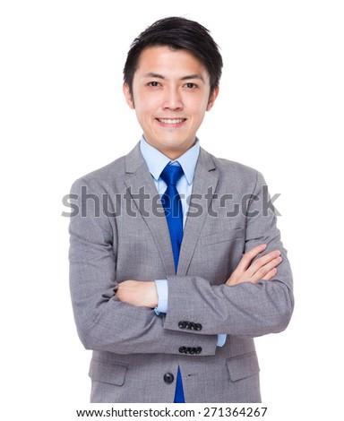 Confident and friendly business man portrait  - stock photo