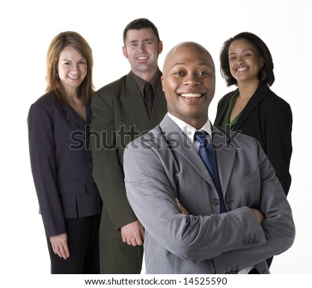 Confident and successful business team - stock photo