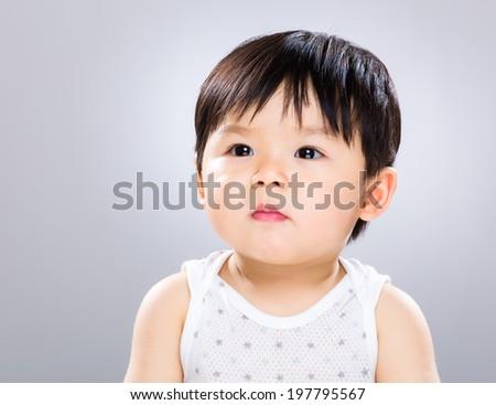 Confident baby - stock photo