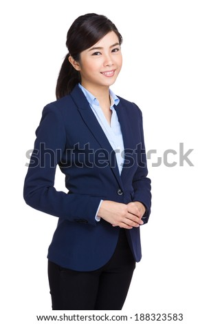 Confident business woman - stock photo