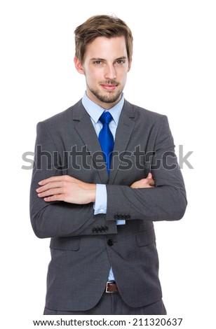 Confident European businessman - stock photo
