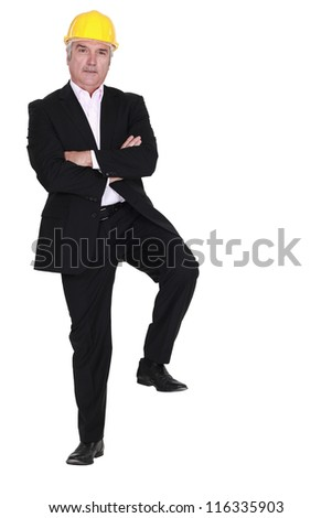 Confident experienced architect - stock photo