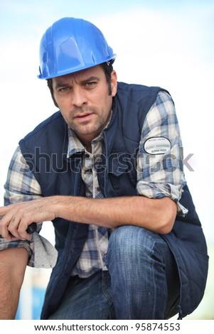 Confident foreman - stock photo