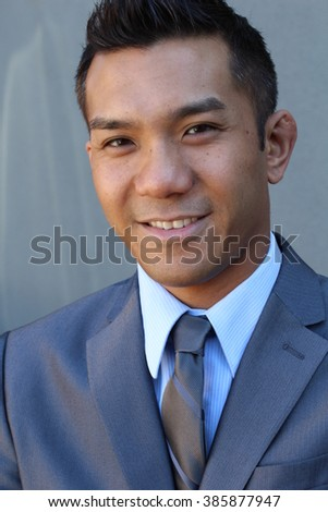 Confident handsome modern business man - stock photo