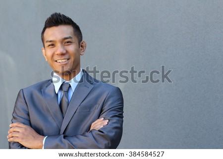 Confident modern business man - stock photo