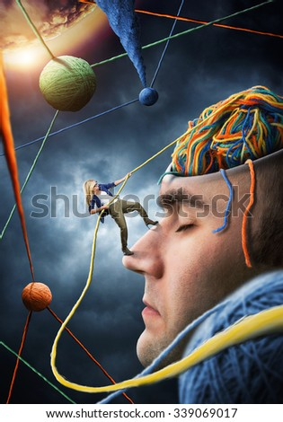 Confident psychologist is solving the client problems - stock photo