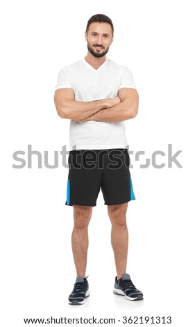 Confident sportsman - stock photo