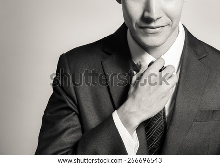 Confident young businessman - stock photo