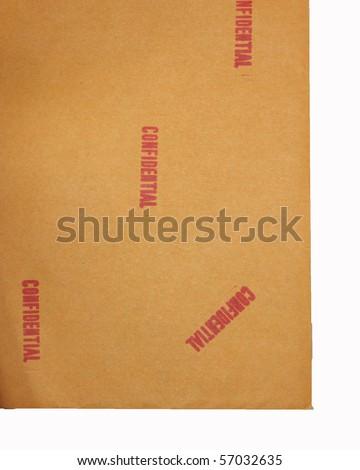 Confidential document 14 - stock photo