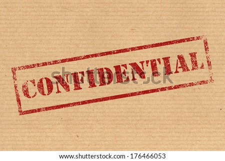 Confidential rubber ink stamp - stock photo