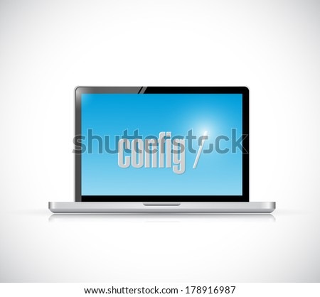 configure code on a laptop. illustration design over a white background - stock photo