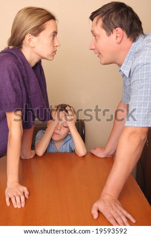 Conflict in a family - stock photo